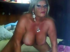 Mature Playing On WebCam