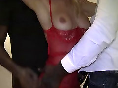 Hotwife Gets Two Black Cocks Anal Dp Cumshots