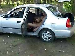 Busty Russian Teen Anal in Car by TROC